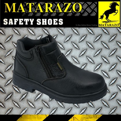 Matarazo Men's High Protective Mid-cut Slip-on Steel Toe Safety Shoes GMZG608