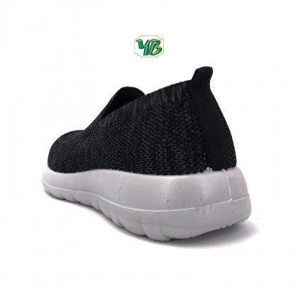 Men's Black Breathable Mesh Slip-On Canvas Fashion Sneakers Shoes G150